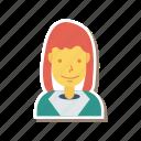 profile, woman, person, avatar, female, girl, user