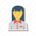 profile, worker, person, manager, avatar, female, user