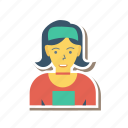 avatar, female, girl, medical, person, profile, user icon