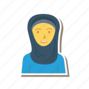 avatar, female, girl, muslim, person, profile, user icon