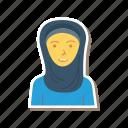 avatar, female, girl, muslim, person, profile, user