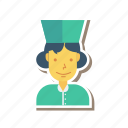 profile, person, avatar, female, nurse, lady, user