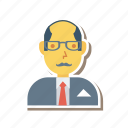 avatar, employer, man, old, person, profile, user
