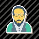 profile, old, avatar, person, user, man, glasses