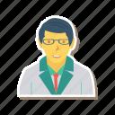 profile, person, scientist, user, man, male, avatar