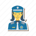 avatar, female, girl, person, profile, security, user