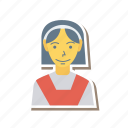 avatar, female, girl, person, profile, student, user