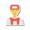 employe, profile, worker, young, person, avatar, user
