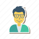 avatar, boy, glasses, person, profile, user, young