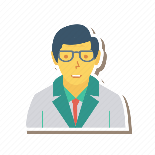 avatar, doctor, person, profile, staff, user, young icon