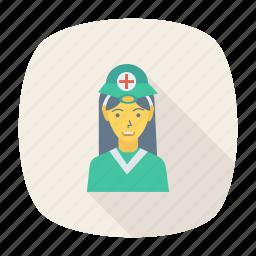 avatar, doctor, female, girl, person, profile, user icon