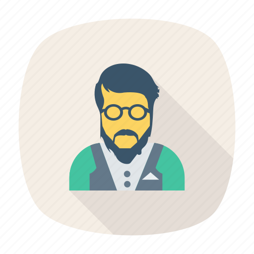 avatar, manager, office, person, profile, user, young icon