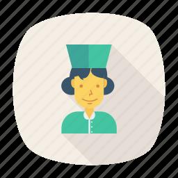 avatar, female, lady, nurse, person, profile, user icon