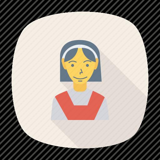avatar, female, girl, person, profile, student, user icon