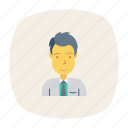 avatar, boy, manager, office, person, profile, user icon