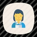 avatar, business, chef, girl, person, profile, user icon