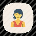 avatar, fashion, female, girl, person, profile, user icon