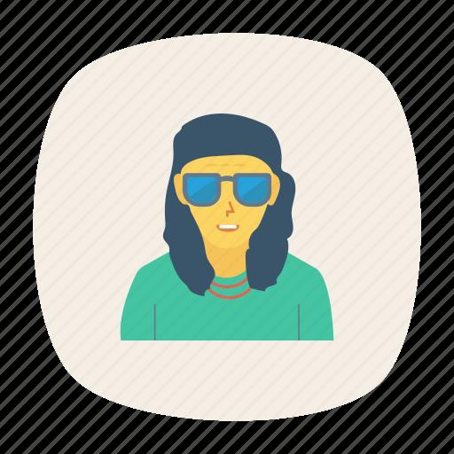 avatar, boy, glasses, man, person, profile, user icon