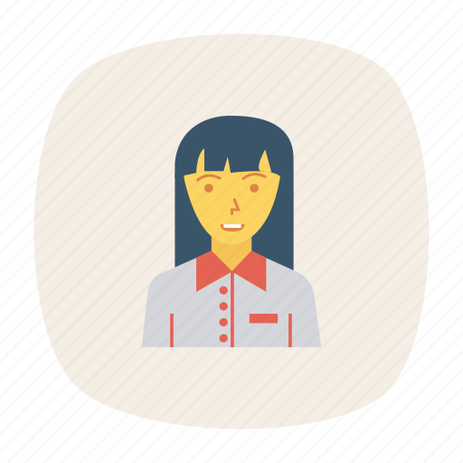 avatar, female, manager, person, profile, user, worker icon