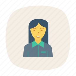 avatar, girl, manager, person, profile, user, worker icon