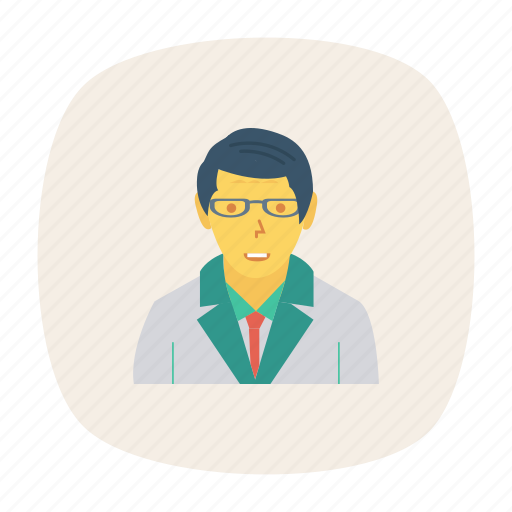 avatar, male, man, person, profile, scientist, user icon