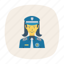 avatar, female, girl, person, profile, security, user icon