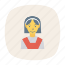 avatar, female, girl, person, profile, student, user icon