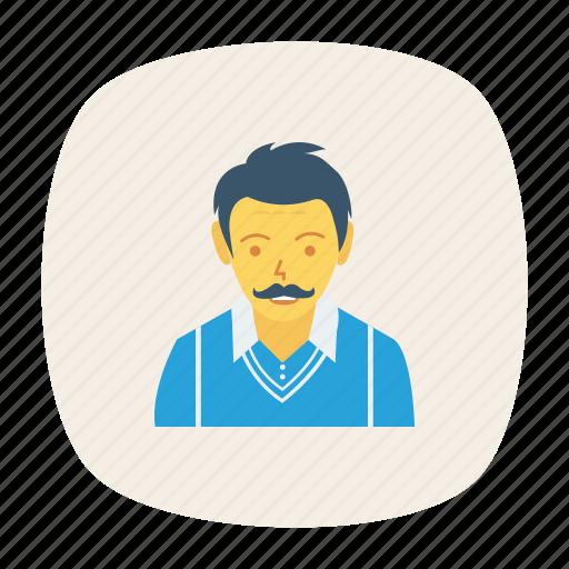 avatar, male, man, person, profile, user, young icon