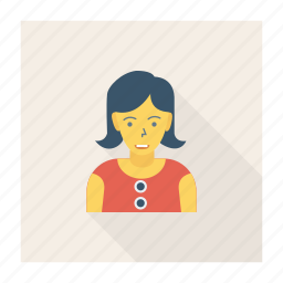 avatar, lady, person, profile, user, woman, worker icon