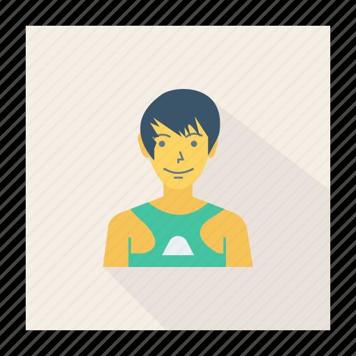 avatar, boy, person, profile, swimmer, user, young icon