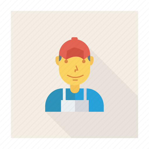 avatar, man, person, profile, user, worker, young icon