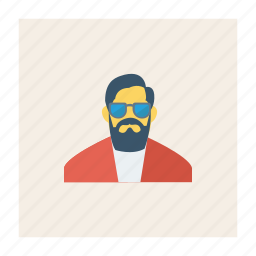avatar, business, glasses, man, person, profile, user icon
