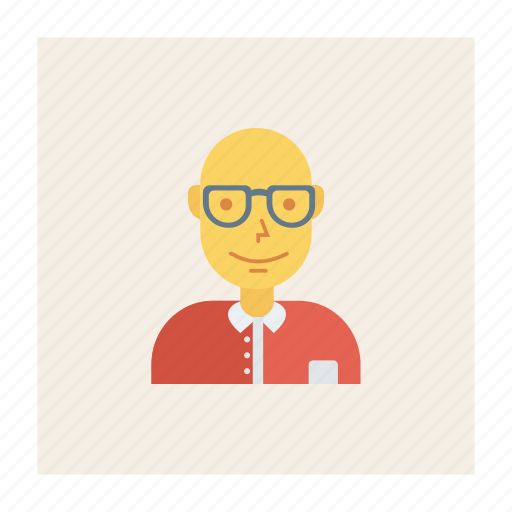 avatar, business, glasses, old, person, profile, user icon