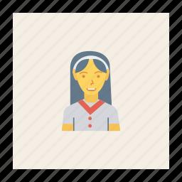 avatar, female, person, profile, receptionist, staff, user icon