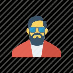 avatar, business, glasses, man, person, profile, user icon