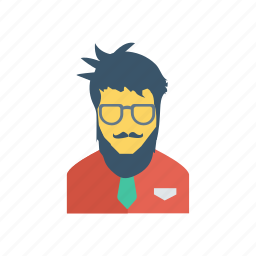avatar, fashion, person, profile, user, worker, young icon