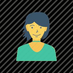 avatar, fashion, female, person, profile, user, young icon