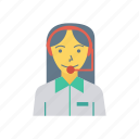 avatar, female, help, person, profile, souuport, user icon