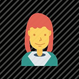 avatar, female, girl, person, profile, user, woman icon