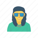 avatar, boy, glasses, man, person, profile, user icon