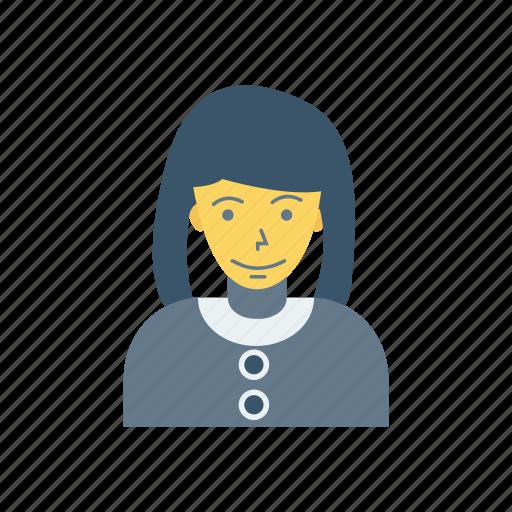 avatar, female, house, lady, person, profile, user icon