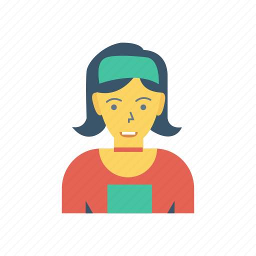 avatar, female, girl, medical, person, profile, user icon