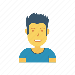avatar, man, person, profile, sports, user, young icon