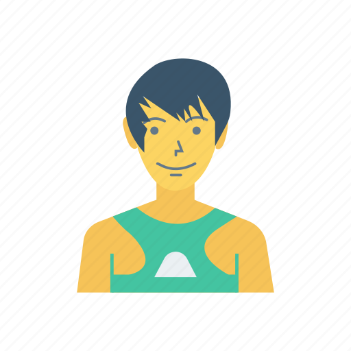 avatar, boy, person, profile, swimmer, user, young icon