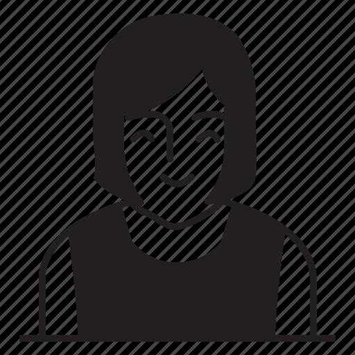 avatar, female, girl, lady icon