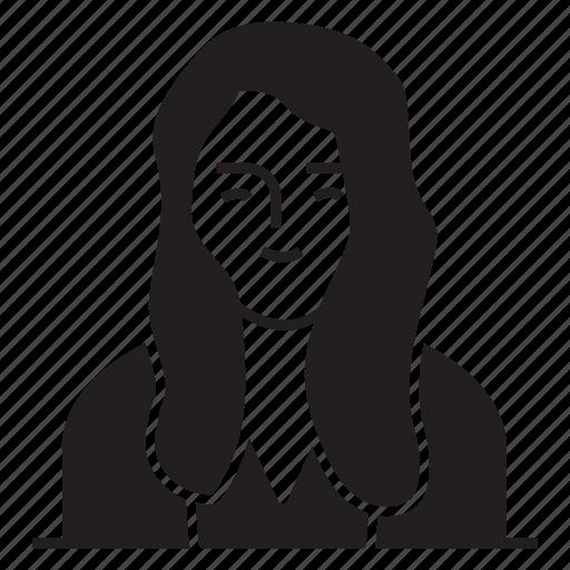 avatar, female, girl, user icon