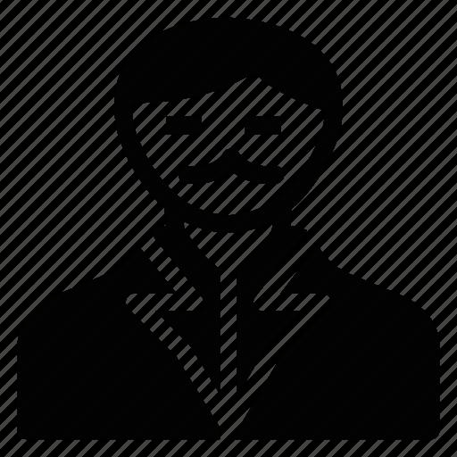 cashier, coatweared, hero, human, man, social, user icon
