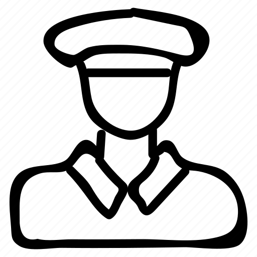 army, caption, male, man, officer, protection, securitygaurd icon