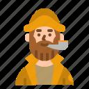 fisherman, man, oldman, avatar, user
