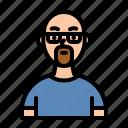 oldman, fat, man, avatar, user